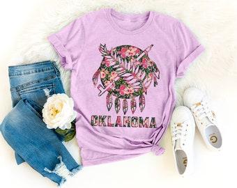 83a2a9d1ebab Floral Oklahoma Shirt, Home State Shirt, Home Shirt, Where I'm From State  Shirt, Home, Oklahoma State, Okie Girl, OU, OSU