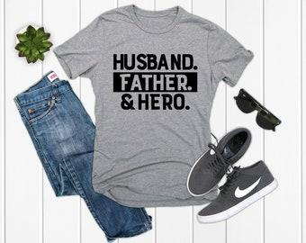 d9f7b4fb3 Husband Father Hero Shirt Funny Dad Shirt Father Shirt Dad Shirt New Dad  Gift Gift for Husband T-shirt Father's day New Dad Shirt Dad SAHD