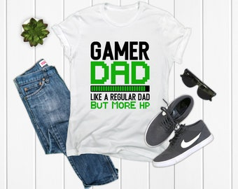 1302d5a5 Gamer Dad Shirt Gaming Dad Gift Father Shirt Dad Shirt Gift Husband T-shirt  Father's day Funny Dad Shirt Gifts For Dad Daddy Dads