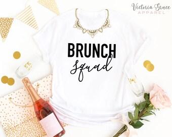 c9d7570c Brunch Squad Shirt Brunch Shirt Girlfriend Shirts Funny Women's Graphic Tee  Sunday Tee Breakfast Shirt Squad shirt Best Friend Shirts