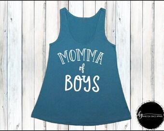Momma of Boys Shirt Mom Shirt Gift for Mom New Mom Shirt New Mommy Shirt Trendy Mama Shirt New Mom Gift Gift for Mom Mom Tank