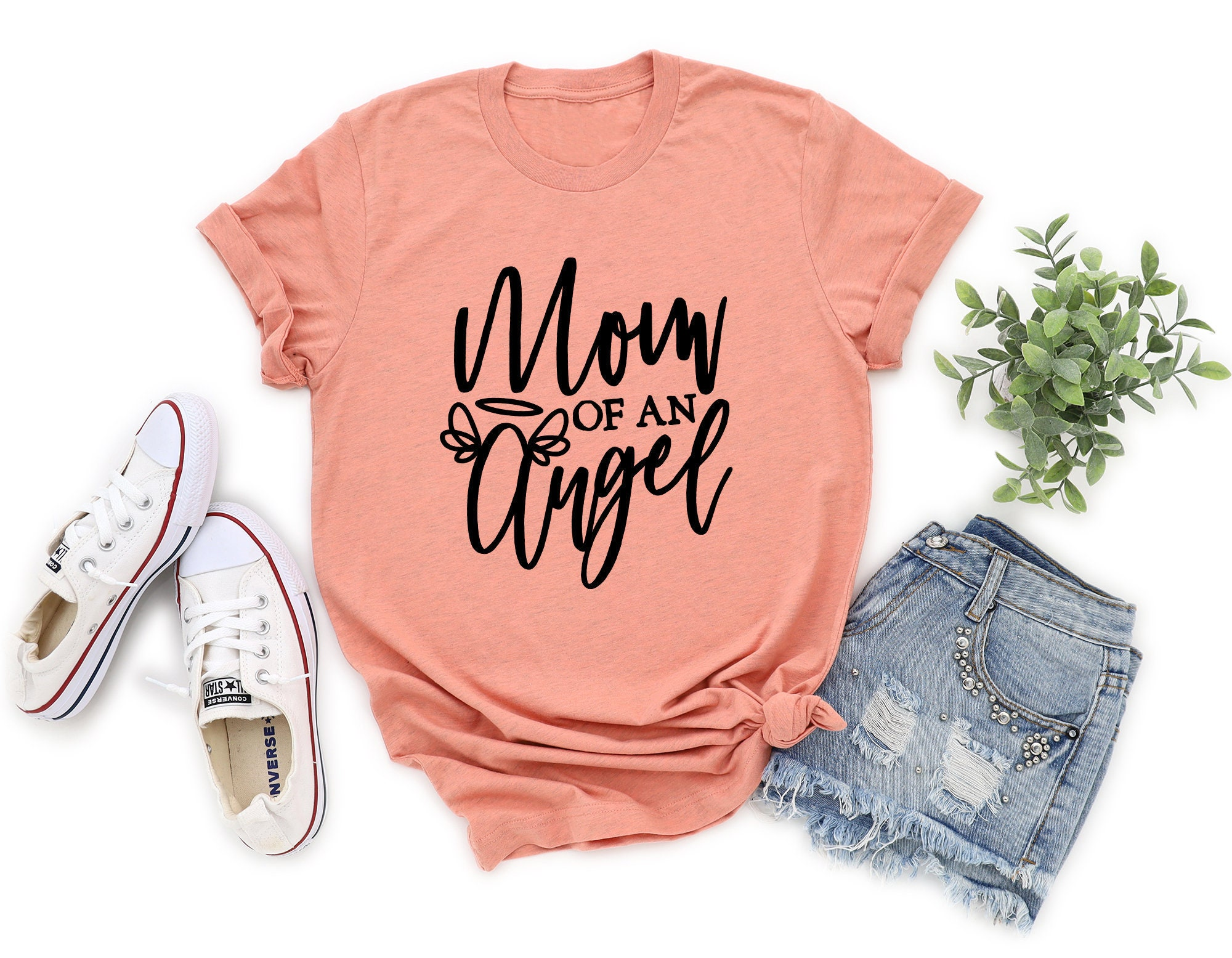 Mom of an Angel Shirt Infant Loss Grieving Mom Gift Gift for Mom  Miscarriage Gift Gift for Grieving Mother Angel Mom Shirt