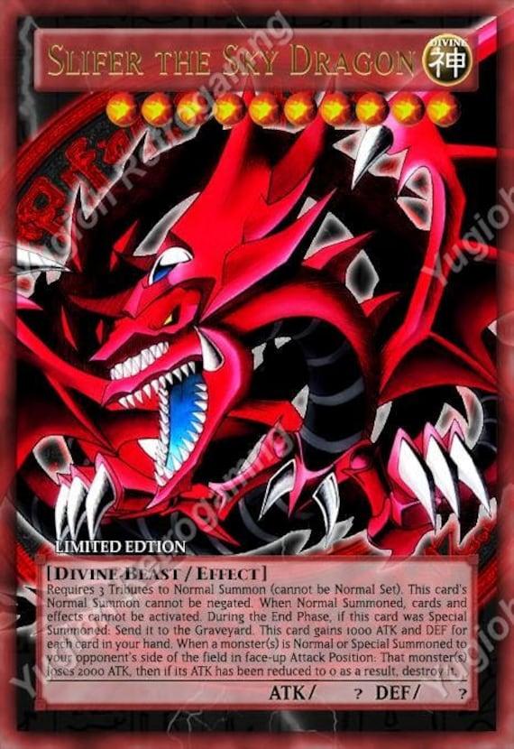 Yugioh Orica Anime Divine bêtes Slifer, Obelisk, Ra, Horakhty Set de 8 cartes