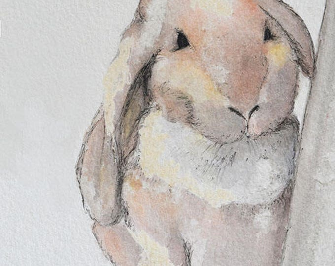 Rabbit art print. Bunny rabbit art from original watercolour painting. Great nursery artwork! Perfect baby shower gift. Baby gift.