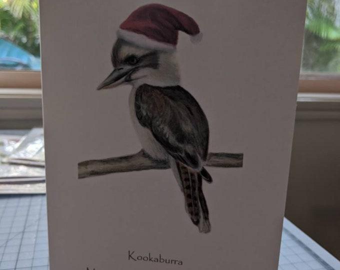 Kookaburra Christmas greeting cards linen cards