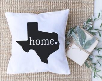 f8d780df2c Texas Home Pillow Cover // Farmhouse Pillow // Home Pillow Cover // Home  Decor // Farmhouse Home Decor // Home Town Pillow // Texas Pillow