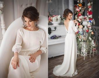 Lace Bohemian Wedding Dress | Boho Wedding dress , Wedding Gown | Cotton Crochet Lace Boho Dress. Caroline