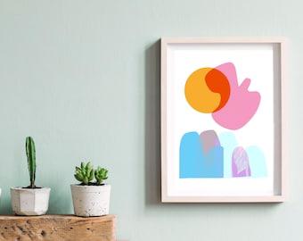 Abstract Sunshine Print