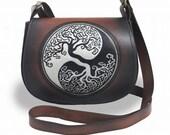 Handpainted genuine leather bag. small womens bag, leather women 39 s bag, leather purse, crossbody bag, shoulder bag,