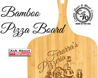 Pizza Board, Pizza Paddle, Large Pizza Board, Pizza Peel, Pizzeria, Personalized, Gift, Christmas, Birthday, Mother's Day, Bamboo