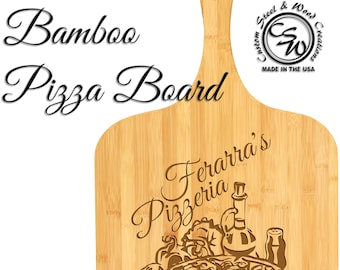 Pizza Board | Large Pizza Board | Kitchen Decor | Pizzeria | Personalized | Gift | Christmas | Birthday | Mother's Day | Bamboo