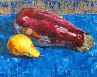Fruit & Vegetable - lemon and eggplant