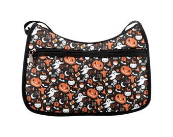 everything halloween black bat halloween bag ghost bag jack o lantern bag spooky bag skull bag crossbody bag halloween crossbody bag