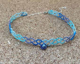 Blue lace necklace