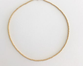 KAKOI LUXE 0522, dainty and delicate, everyday wear, 24k gold, magnetic choker necklace