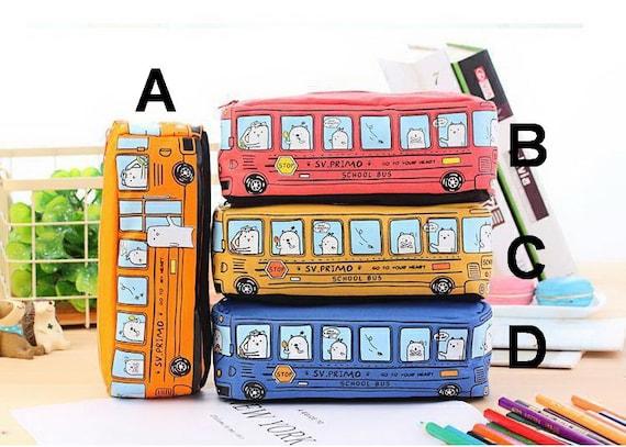 Unicorn Pen & Bus Pencil Case White