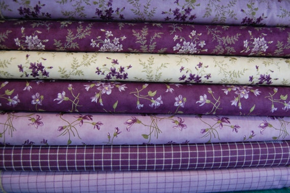 4FQ Fat Quarter Charm Pack Bundle matching Flowers Collection Quilting Fabric