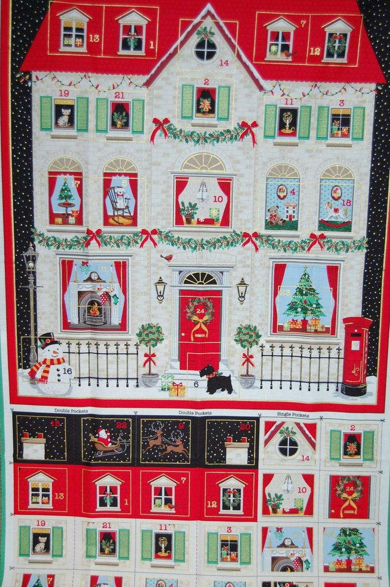 ready to sew for Xmas Stuart Hillard Nutcracker Advent Calendar//Stocking panels