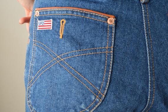UFO jeans novelty jeans mom jeans stitched jeans u