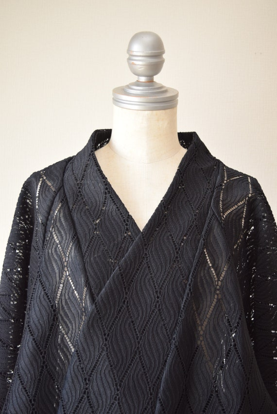Japanese Kimono robe black kimono robe kimono Jac… - image 9