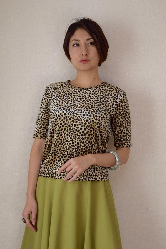 Leopard velvet T-shirt