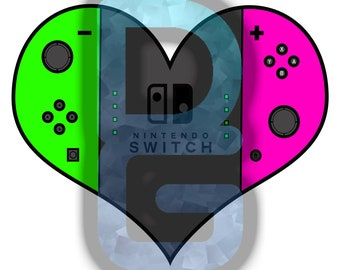 I Heart Games - Nintendo Switch - Neon Green/Neon Pink Joy Con