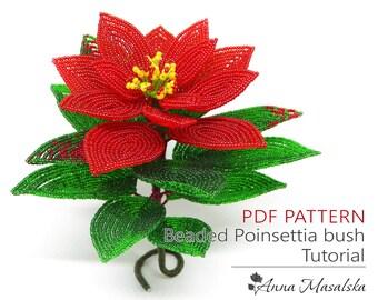 Poinsettia Seed Bead Etsy