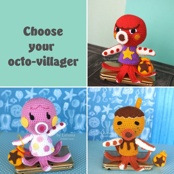 Made To Order Octopus Villager From Animal Crossing Custom Etsy