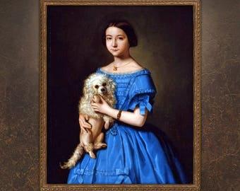 Custom Childrens Portrait, Custom Royal Painting, Victorian Girl Portrait, Regal portrait from photo, free shipping!