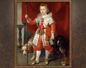 Custom Portrait, Personalised Royal Portrait Gift, Victorian Portrait, Renaissance Portrait, Child Painting, Painting from photo!