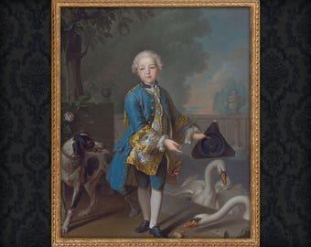 Child Portrait, Son Portrait, Englishman Custom Portrait, Boy Portrait, Victorian Portrait, Painting from photo
