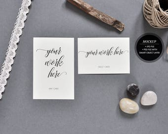 Download Free Styled stock photography - card mockup, wedding invitation rsvp invite mock up, 4x6