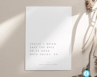 Fully Editable Minimalist Save Our Date Template Templett Modern Save The Date Template Landscape Printable Save The Date Cards C65
