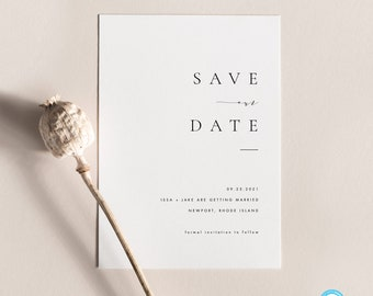 Simple Save the Date Card Modern Photo Save the Date Save the Date Photo Credit: AMP Printable Save the Date