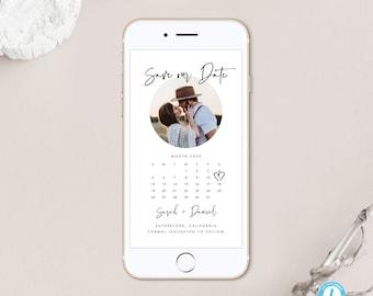 Modern Save the Date Electronic Invitation Template Download Calendar Digital Evite Text Message Invite Templett 16