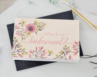 Bridesmaid Proposal Card, Bridesmaid Cards, Asking Bridesmaid, Will You Be My Bridesmaid, Bridesmaid proposal card, Ask Bridesmaid invite