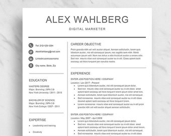 minimalist resume template for word professional resume design clean resume for word 2 page resume download simple resume template