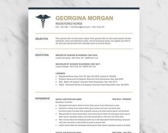 Paramedic Resume Etsy