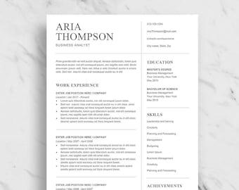 minimalist resume template for word professional resume design clean resume for word 2 page resume download simple resume template - Simple Resume Design