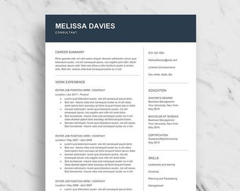 business resume etsy