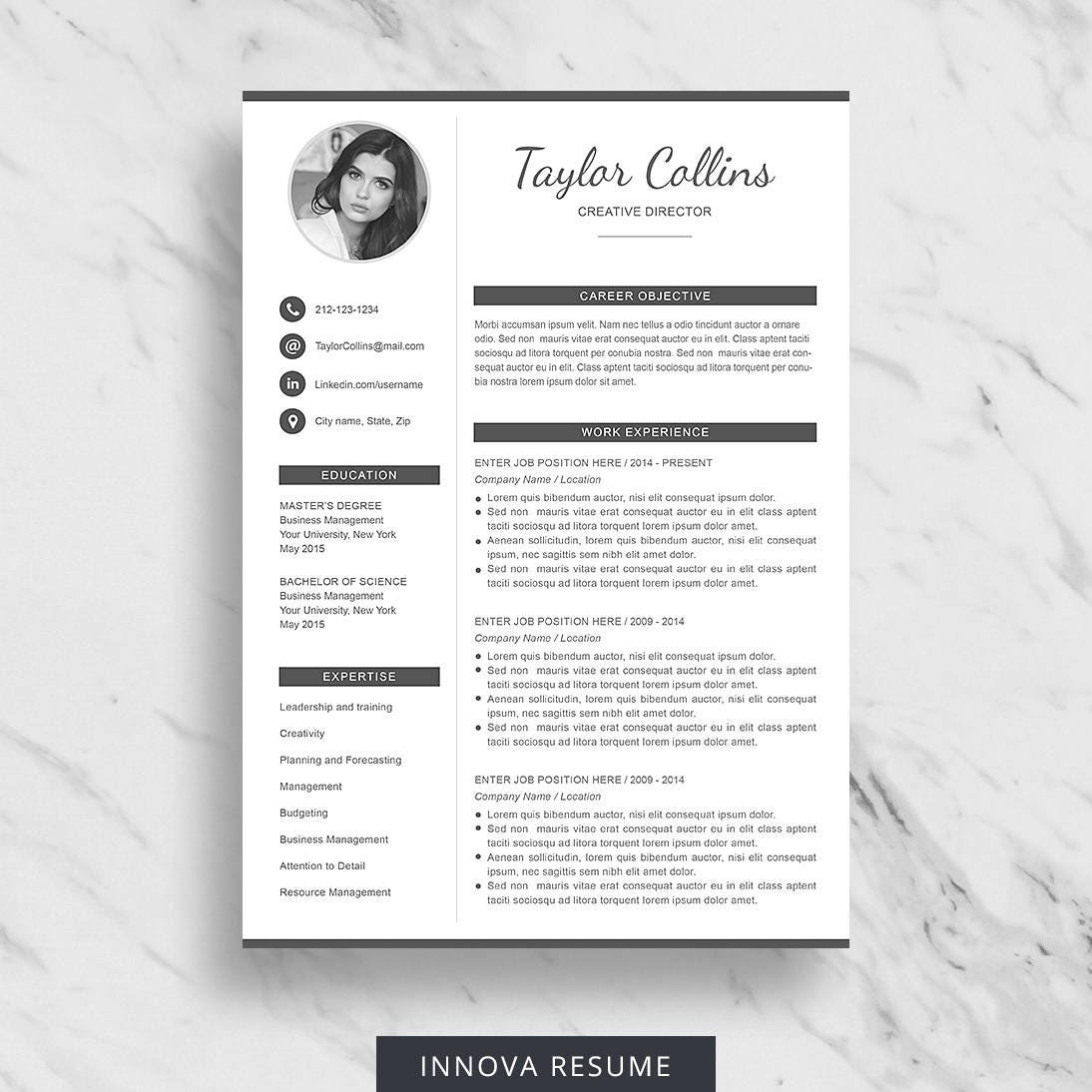 resume template with photo photo resume cv template for