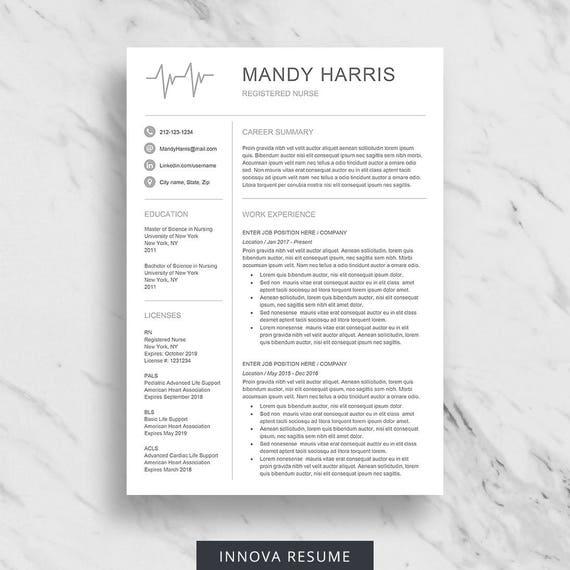 nurse resume template for word medical resume download