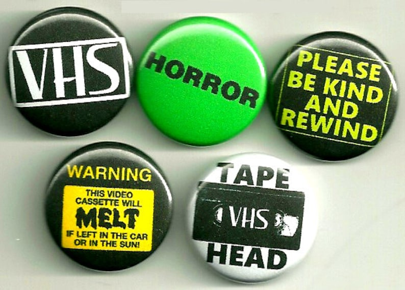 VHS buttons !! tape head please be kind melted tapes