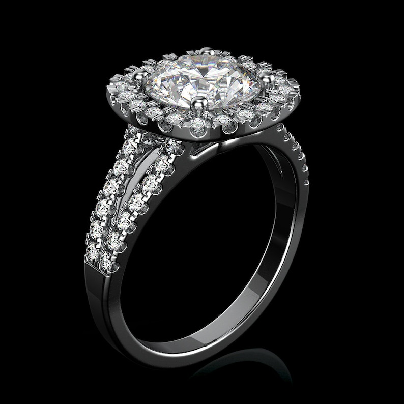 Fine Rings Engagement & Wedding Honest 1 Carat D Si1 Natural Clarity Diamond Solitaire Engagement Ring 18k White Gold