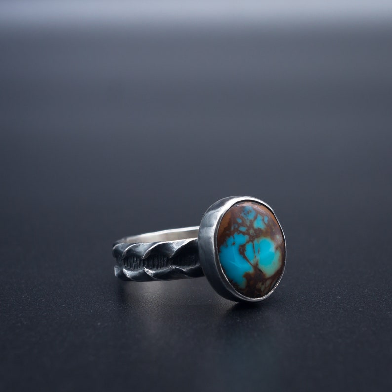 f5984906523d6 Natural Turquoise Ring in .925 silver | Size 6 | Handmade in Oregon, USA