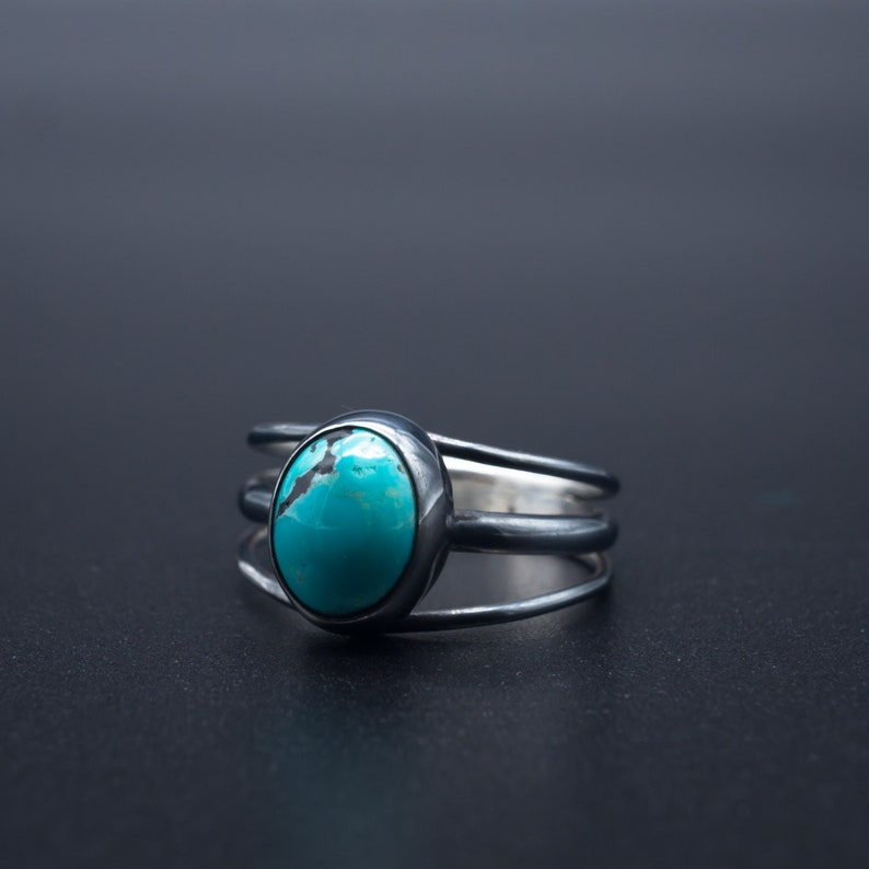 e50becf157b62 Natural Turquoise Ring in .925 silver | Size 7 | Handmade in Oregon, USA