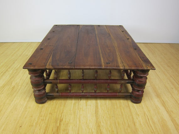 Outstanding Antique Indian Mango Wood Rustic Coffee Low Table Inzonedesignstudio Interior Chair Design Inzonedesignstudiocom