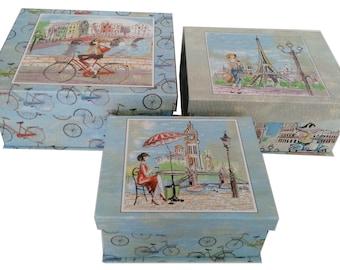 Decorative Cardboard Storage Box  Paris