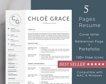 resume template for ms word louise 1 2 page resume etsy