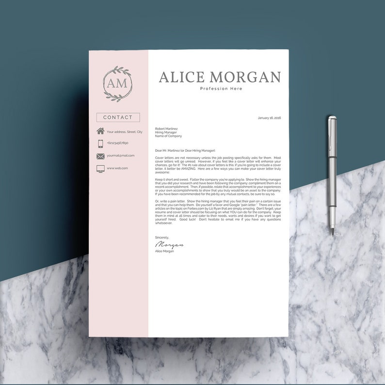 Creative Resume Template For Word Pages